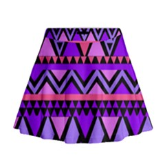 Seamless Purple Pink Pattern Mini Flare Skirt