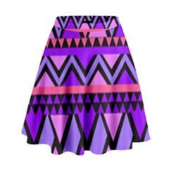 Seamless Purple Pink Pattern High Waist Skirt