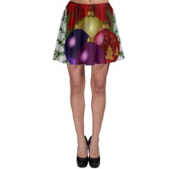 Candles Christmas Tree Decorations Skater Skirt