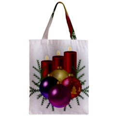 Candles Christmas Tree Decorations Zipper Classic Tote Bag