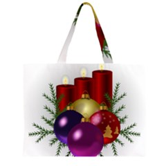 Candles Christmas Tree Decorations Large Tote Bag