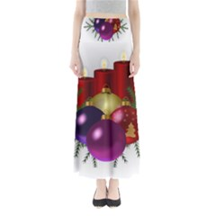 Candles Christmas Tree Decorations Maxi Skirts