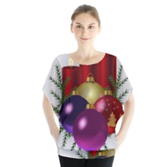 Candles Christmas Tree Decorations Blouse