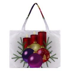 Candles Christmas Tree Decorations Medium Tote Bag
