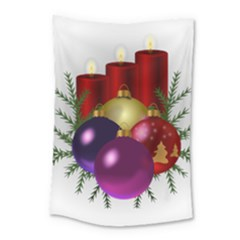 Candles Christmas Tree Decorations Small Tapestry