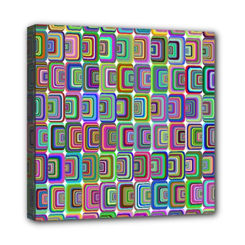 Psychedelic 70 S 1970 S Abstract Mini Canvas 8  x 8