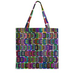 Psychedelic 70 S 1970 S Abstract Zipper Grocery Tote Bag