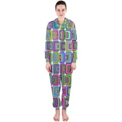 Psychedelic 70 S 1970 S Abstract Hooded Jumpsuit (Ladies)