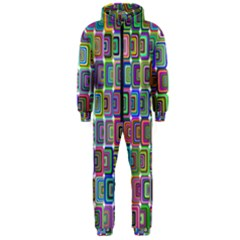 Psychedelic 70 S 1970 S Abstract Hooded Jumpsuit (Men)