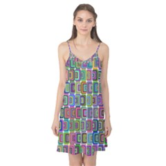 Psychedelic 70 S 1970 S Abstract Camis Nightgown
