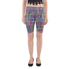 Psychedelic 70 S 1970 S Abstract Yoga Cropped Leggings