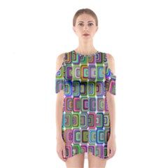 Psychedelic 70 S 1970 S Abstract Shoulder Cutout One Piece