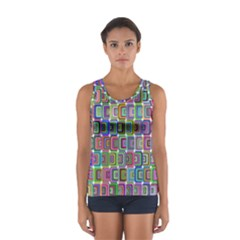 Psychedelic 70 S 1970 S Abstract Women s Sport Tank Top