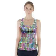 Psychedelic 70 S 1970 S Abstract Racer Back Sports Top