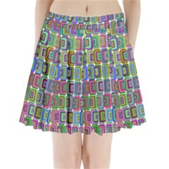 Psychedelic 70 S 1970 S Abstract Pleated Mini Skirt