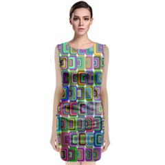 Psychedelic 70 S 1970 S Abstract Sleeveless Velvet Midi Dress