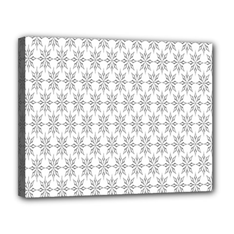 Ornamental Decorative Floral Canvas 14  x 11