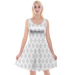 Ornamental Decorative Floral Reversible Velvet Sleeveless Dress