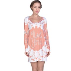 Mandala I Love You Long Sleeve Nightdress