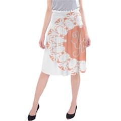 Mandala I Love You Midi Beach Skirt