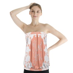 Mandala I Love You Strapless Top