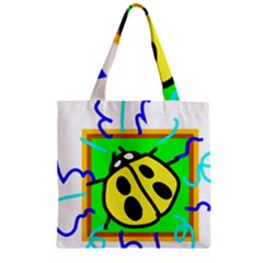 Insect Ladybug Zipper Grocery Tote Bag