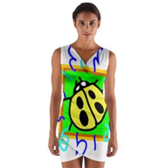 Insect Ladybug Wrap Front Bodycon Dress