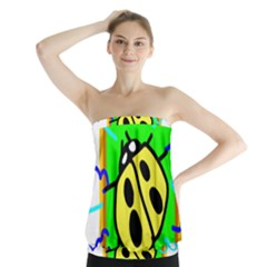Insect Ladybug Strapless Top