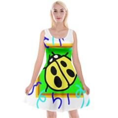 Insect Ladybug Reversible Velvet Sleeveless Dress
