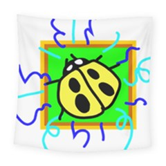 Insect Ladybug Square Tapestry (large)