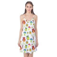 Cute Owl Wallpaper Pattern Camis Nightgown