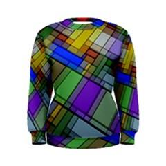 Abstract Background Pattern Women s Sweatshirt