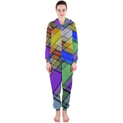 Abstract Background Pattern Hooded Jumpsuit (Ladies)