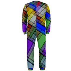 Abstract Background Pattern OnePiece Jumpsuit (Men)