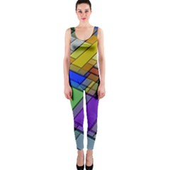 Abstract Background Pattern OnePiece Catsuit