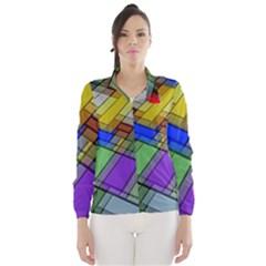 Abstract Background Pattern Wind Breaker (Women)