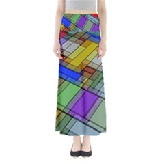 Abstract Background Pattern Maxi Skirts