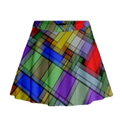 Abstract Background Pattern Mini Flare Skirt