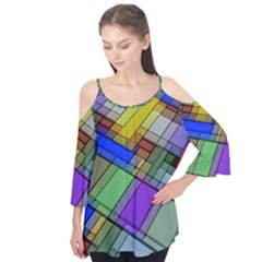 Abstract Background Pattern Flutter Tees