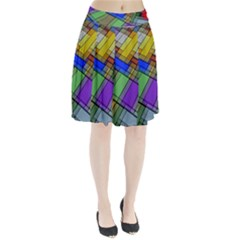 Abstract Background Pattern Pleated Skirt