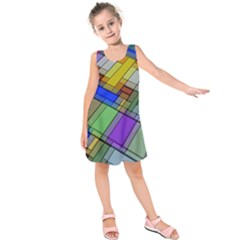 Abstract Background Pattern Kids  Sleeveless Dress