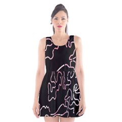 Abstract Glare Visual Art Scoop Neck Skater Dress