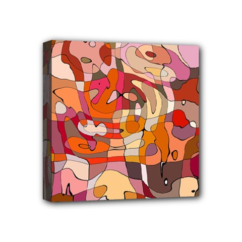 Abstract Abstraction Pattern Modern Mini Canvas 4  x 4