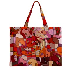 Abstract Abstraction Pattern Modern Zipper Mini Tote Bag