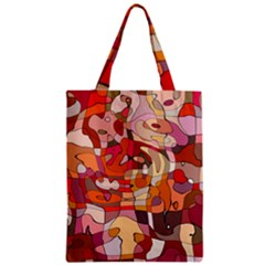 Abstract Abstraction Pattern Modern Zipper Classic Tote Bag