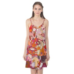 Abstract Abstraction Pattern Modern Camis Nightgown