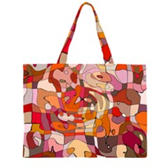 Abstract Abstraction Pattern Modern Large Tote Bag