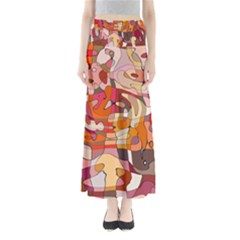 Abstract Abstraction Pattern Modern Maxi Skirts