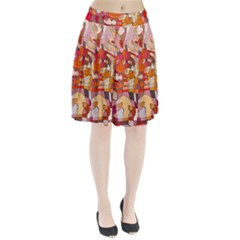 Abstract Abstraction Pattern Modern Pleated Skirt