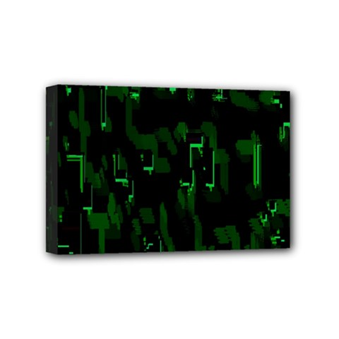 Abstract Art Background Green Mini Canvas 6  x 4